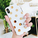 Polka Dot Phone Case For iPhone XS XR XS Max X 6 6S 7 8 Pluscases - Kalsord