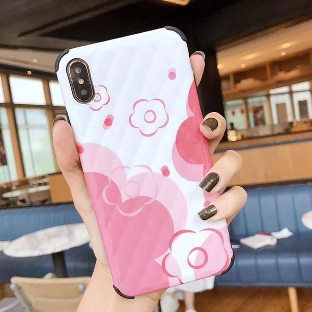 Cute Pink Abstract Floral | Daisy Phone Case For iPhone XR XS Max 6 6S 7 8 Plus Xcases - Kalsord