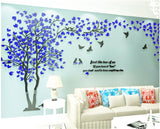 Large Size Tree Acrylic Decorative 3D Wall Sticker DIY Art Living Room Background Home Decor - Kalsord