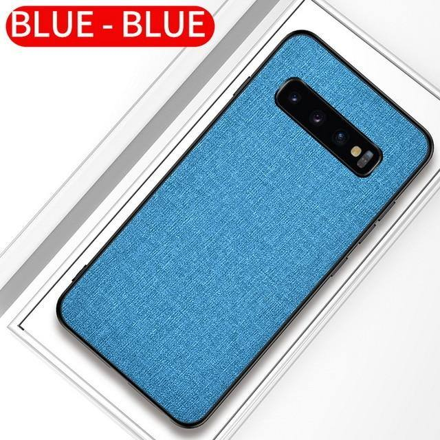 #1 Fabric Cloth Phone Case For Samsung Galaxy S10 5G S10e S9 S8 Plus A Series Slim Soft Bumper Hard PC Back Cover