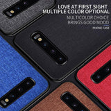 #2 Fabric Cloth Phone Case For Samsung Galaxy S10 5G S10e S9 S8 Plus A Series Slim Soft Bumper Hard PC Back Cover