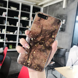 Golden Glitter Foil Marble Phone Case For iPhone X XS Max XR 7 8 6 6s Pluscases - Kalsord