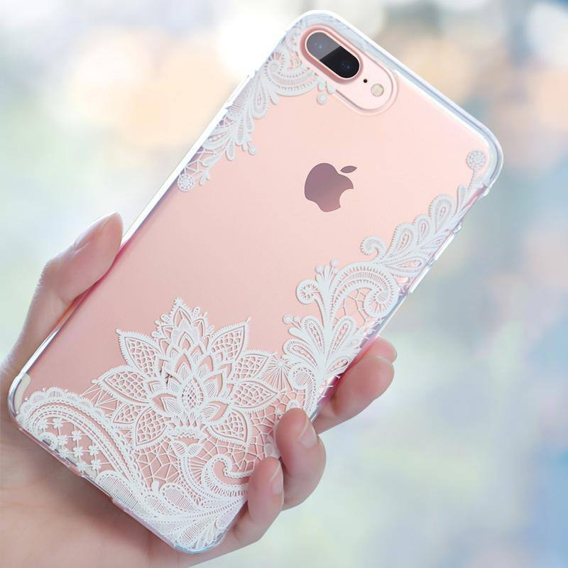3D Lace Flower Silicone Phone Case For iPhone 7 6 6s Plus 5s 7 8 Plus XCases - Kalsord