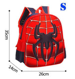 3D Cute Spiderman/Captain America Backpack/School Bag For Kids - Kalsord