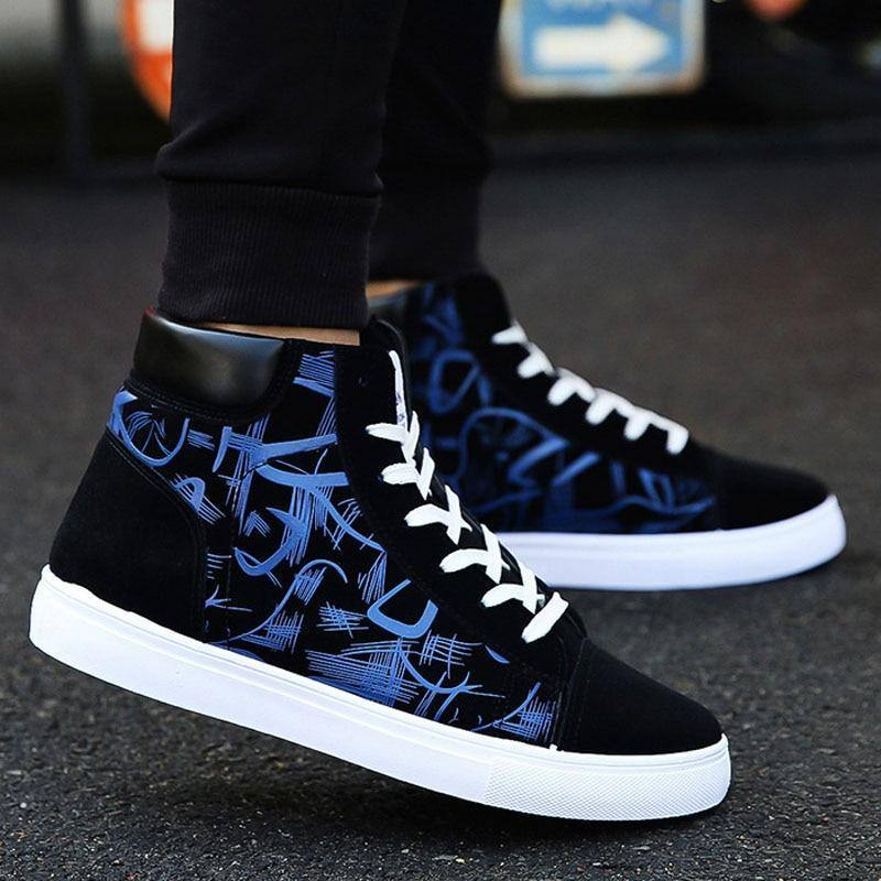 Men's Fashion Vulcanized Lace-Up Canvas Sneaker - Kalsord