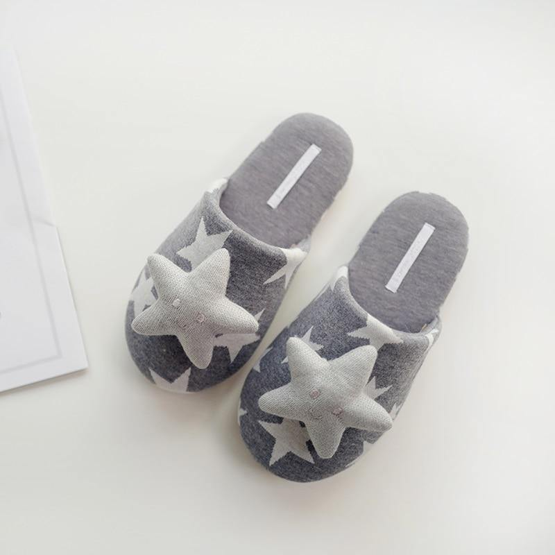 Women's Cute 3D Decorative Shapes Cotton Breathable SlipperSlippers - Kalsord