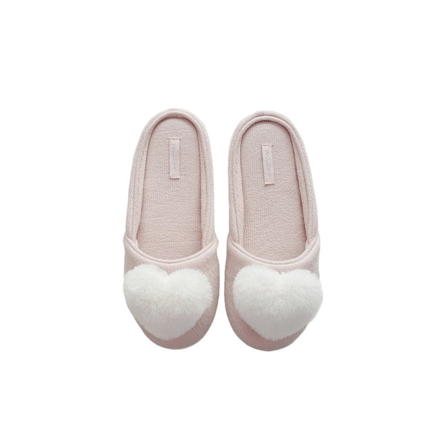 Women's Fluffy Heart-Shaped SlipperSlippers - Kalsord
