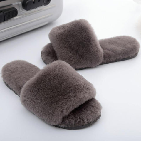 Women's Fluffy Faux Fur Wool Slipper- 8 ColorsSlippers - Kalsord