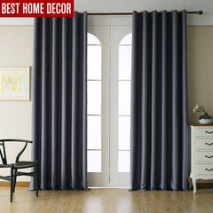 Deep Gray, Wine Red, Cream, Deep Brown Modern Blackout Curtains for living  room | bedroom
