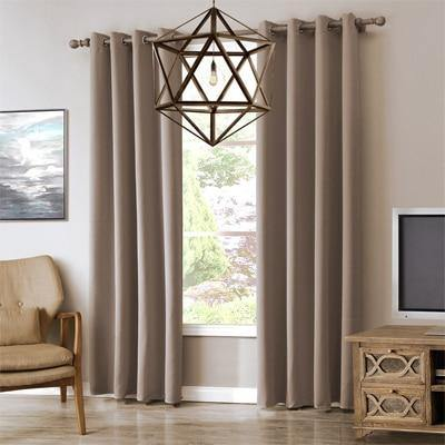 Grey | Coffee | Brown Blackout Curtains For Living Room | Bedroom Window - Kalsord