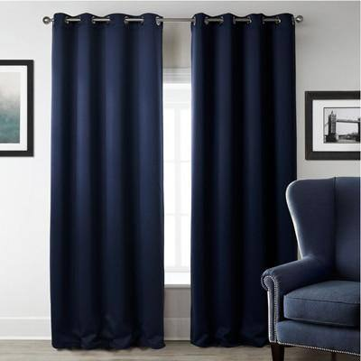 Black | Red | Deep Blue Blackout Curtains For Living Room | Bedroom Window - Kalsord