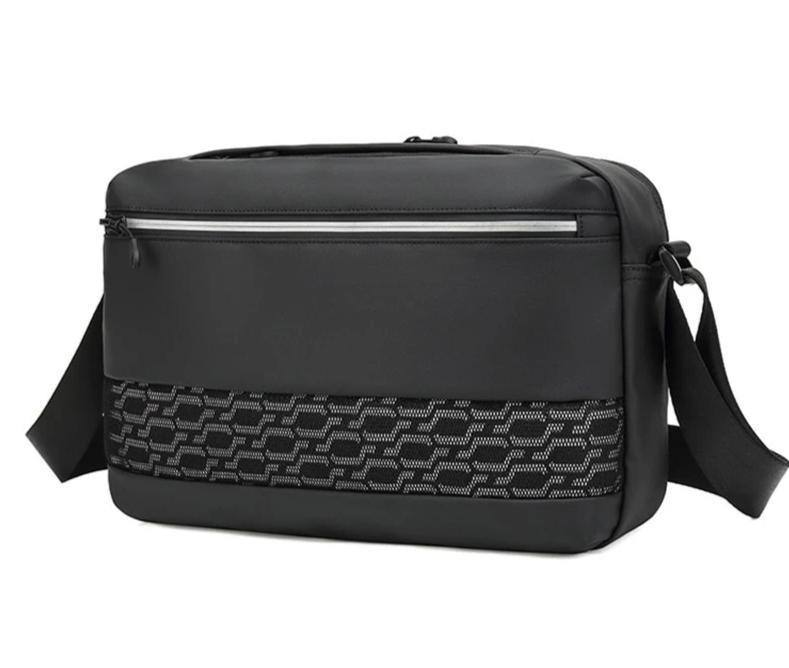 Men's Nylon Messenger | Crossbody Bag Fits 9.7 iPad | High Quality Water Resistent Shoulder Bag - Kalsord