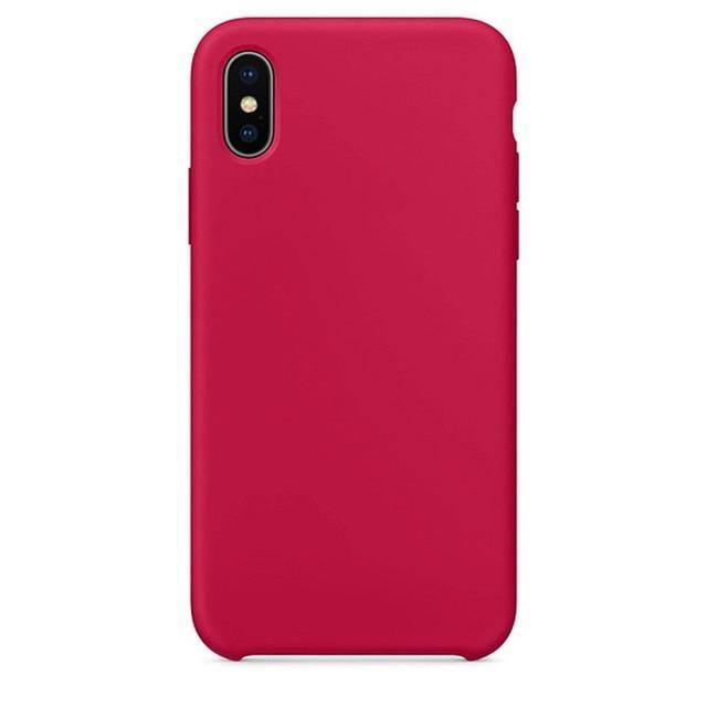 Rainbow | Candy Colored Silicone Case For iPhone XR X XS Max 11 Pro 11 Pro Max 7 Plus 8 Plus 6 6s- Pink Black Mint Green Violet Purple Red Orange White Blue Rose Redcases - Kalsord