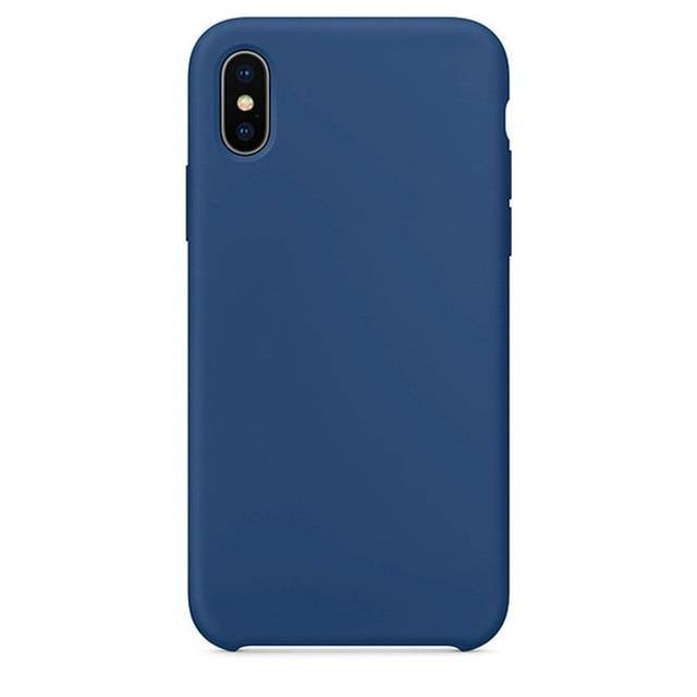 Rainbow | Candy Colored Silicone Case For iPhone XR X XS Max 11 Pro 11 Pro Max 7 Plus 8 Plus 6 6s- Charcoal Gray Blue Green Begonia Light Pink Pebblecases - Kalsord