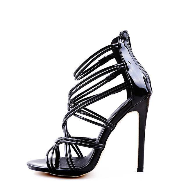 Strappy Thin Platform Gladiator Sandal High Heeled Shoe | Stiletto - Kalsord