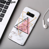 Geometric Marble TPU Phone Case For S10e S10 S10 Plus S6 S7 S8 S9cases - Kalsord