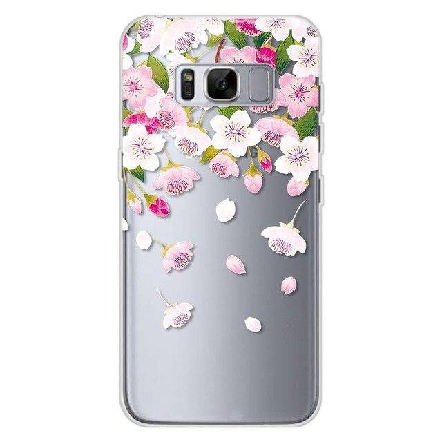 Floral Transparent Silicone Case For Samsung Galaxy S8cases - Kalsord