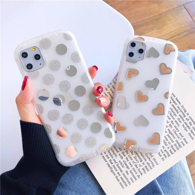 TPU Silicone Polka | Hearts | Love Case For iPhone 7 8 Plus XS Max XR XS 6 6S Plus  11 11 pro 11 pro Maxcases - Kalsord