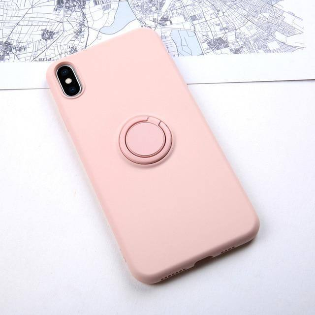 Soft Silicone Case W/ Ring Holder | Kickstand For iPhone 11 Pro iPhone 11 XS Max 6 Plus 7 Plus 8 Plus XR X 7 8 6 S 6S Pluscases - Kalsord