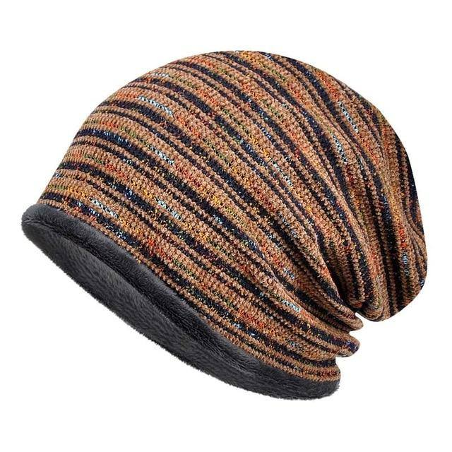 Velvet Winter Knitted Beanie-3 Colors - Kalsord