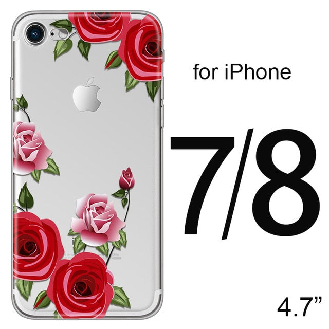 Red Rose Flower | Floral Case For iPhone X 8 7 6 6s 5 5s SEcases - Kalsord