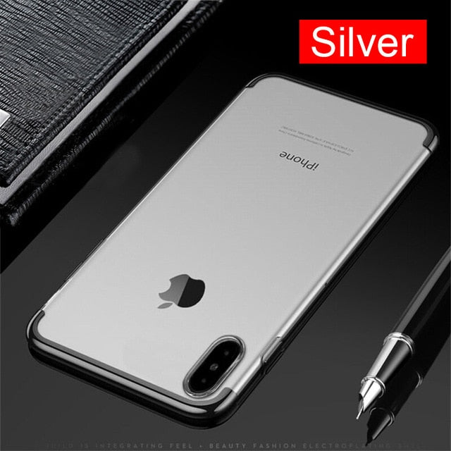 Luxury 2 Color TPU Case For iPhone X 10 Phone 7 8 6 X 8 7 6 6S Plus