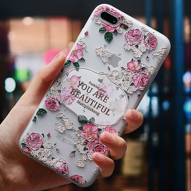 Silicone Flower | Floral Phone Case For iPhone 7 6 S 6S 8 Plus X 5 5S SECases - Kalsord