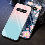 Gradient Heart Space Flowers Animal Planet Stars Tempered Glass Case/Cover For Samsung Galaxy Phonecases - Kalsord