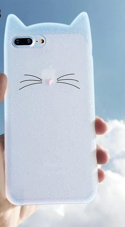 Cute Cat Whiskers Case For iPhone 7 6s 8 7 Plus Xcases - Kalsord