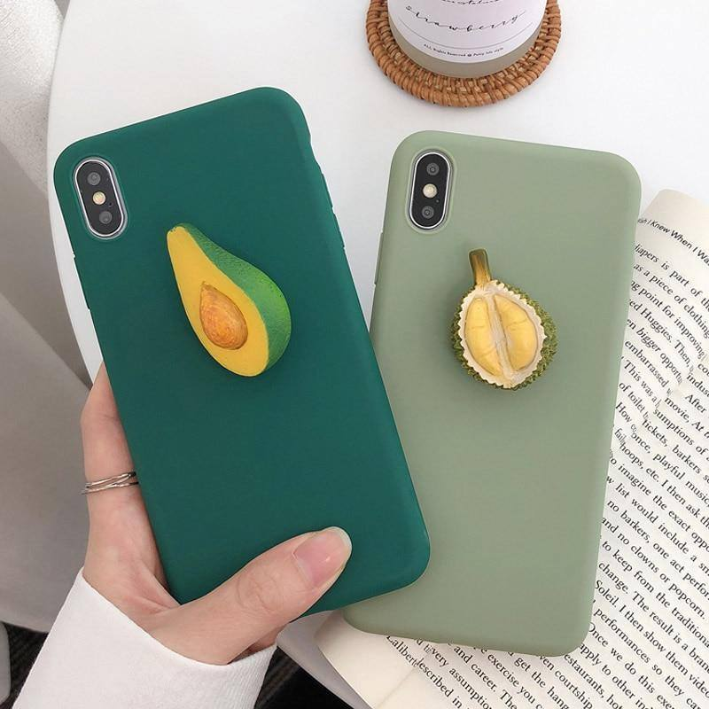 3D Cartoon Avocado | Fruits Phone Case For iPhone XS MAX X XR 7 8 6 6s PlusCases - Kalsord