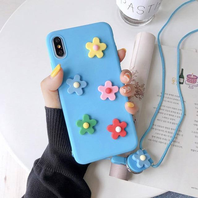 3D Embossed Flower Phone Case For iPhone X XS MAX XR 6 7 6S 8 PlusCases - Kalsord