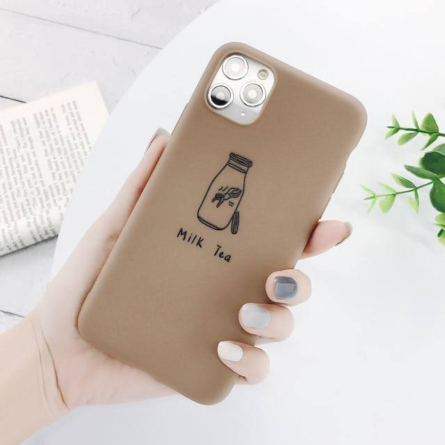 Airplane Milk Tea Caption Phone Case/Cover For iPhone 11 Pro Max X XR Xs Max 5s SE 6 6s 7 8 Plus