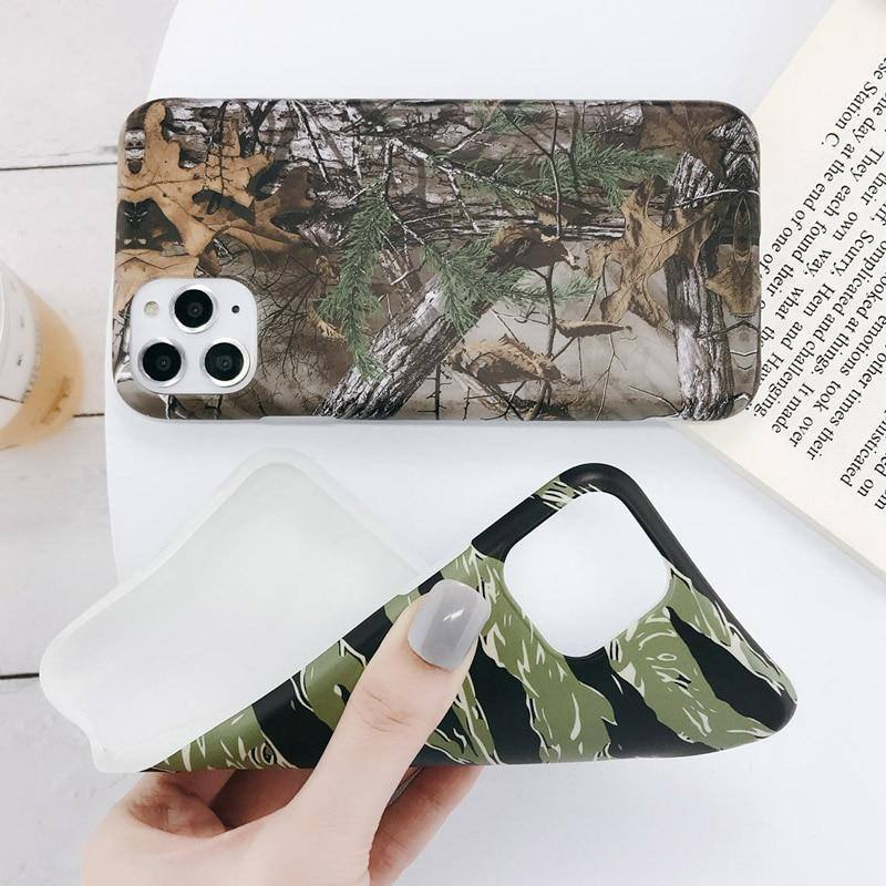 Soft Army Green Camouflage Phone Case For iPhone 11 Pro Max X XR Xs Max Back Cover For iPhone 6 6s 7 8 Pluscases - Kalsord