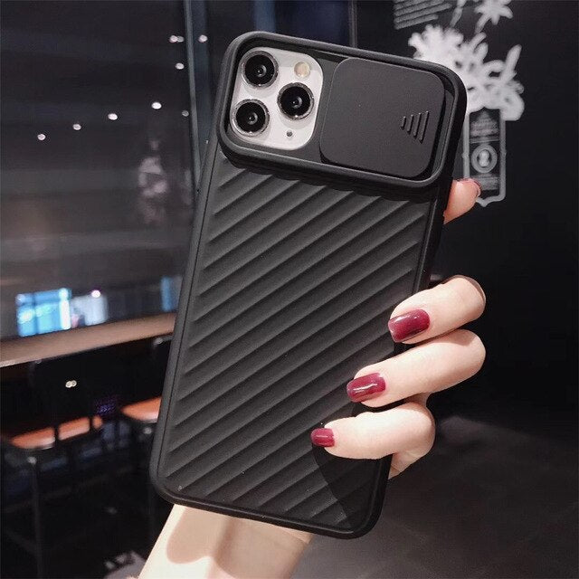 Slider Back Camera Lens Protection Phone Case For iPhone 11 Pro Max X XS XR Xs Max Back Cover For iPhone 7 8 Pluscases - Kalsord
