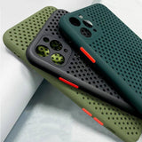 Heat Dissipation Phone Case For iPhone 11 Pro Max X XS XR Xs Max 7 8 Plus- Gray, Green, Black
