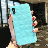 3D Diamond Candy Color Phone Case for iPhone 7 6 6S 8 Plus XS Max XR XCases - Kalsord