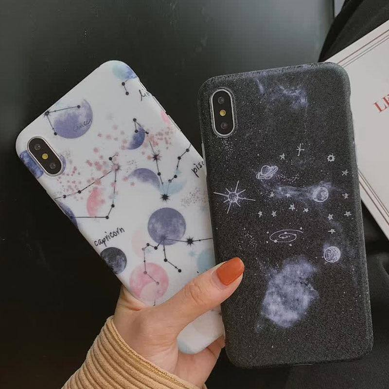 Cartoon Planet | Stars Phone Case For iPhone 6 7 6S 8 Plus  X XR XS MaxCases - Kalsord