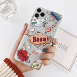 Funny Cartoon Abstract Clear Phone Case For iPhone 11 Pro Max X XR Xs Max 6 6S 7 8 Pluscases - Kalsord