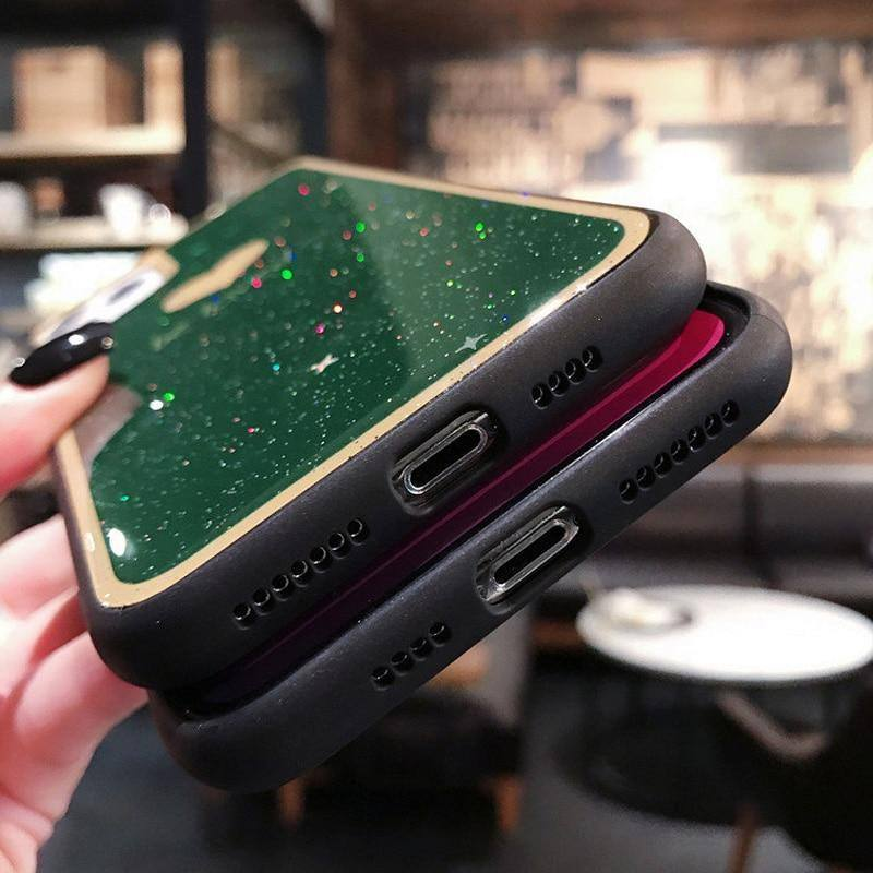 Shiny Glitter Bling Love Heart Phone Case For iPhone 11 Pro Max X XR Xs Max 6 6s 7 8 Pluscases - Kalsord