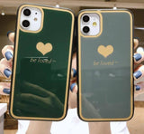 Love Heart Glass Phone Case For iPhone 11 Pro Max X XR Xs Max 6 6s 7 8 Pluscases - Kalsord
