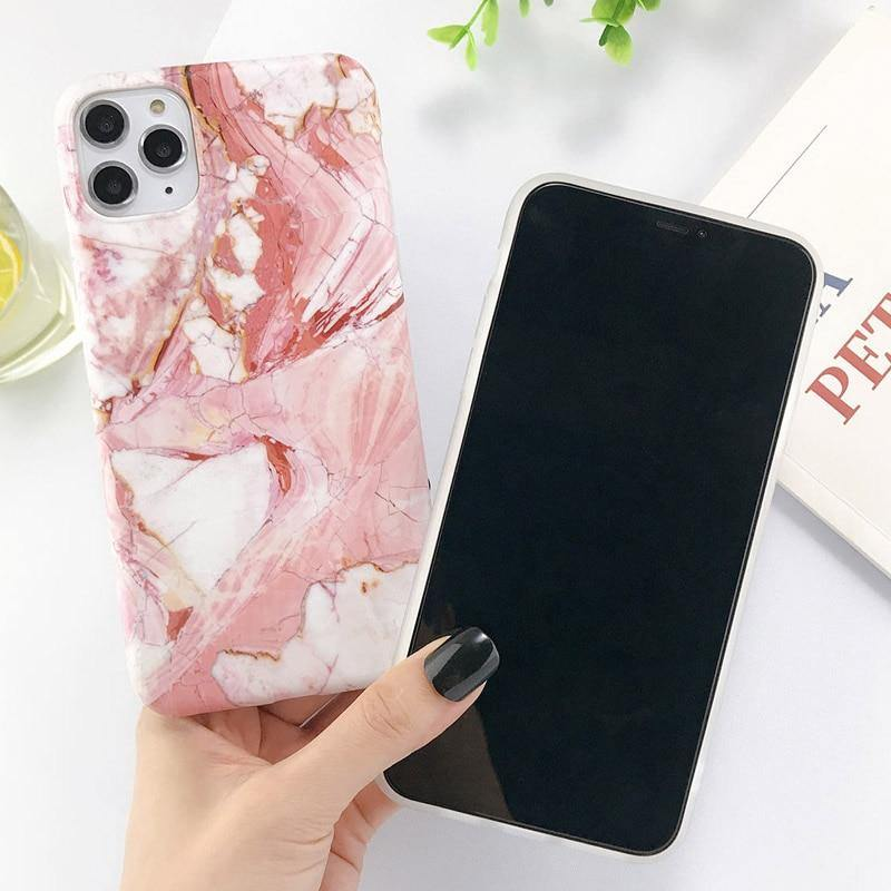 Soft Marble Stone Pattern Phone Case/Cover For iPhone 7 8 Plus 11 Pro Max X XR Xs Max 6 6s Pluscases - Kalsord