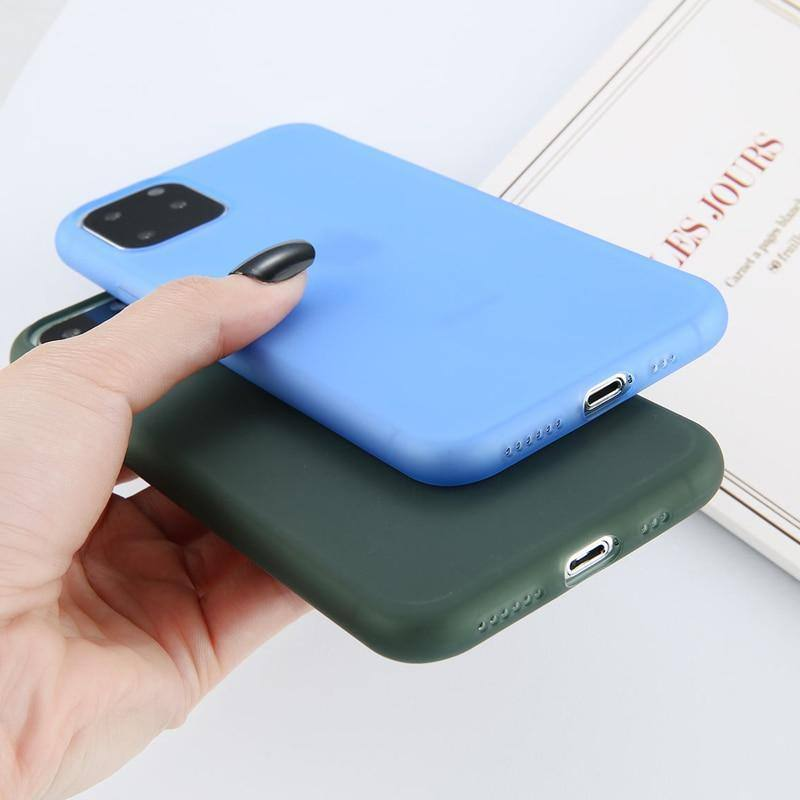 Matte Soft Silicone Phone Case For iPhone 11 Pro Max X XR Xs Max 6 6s 7 8 Plus