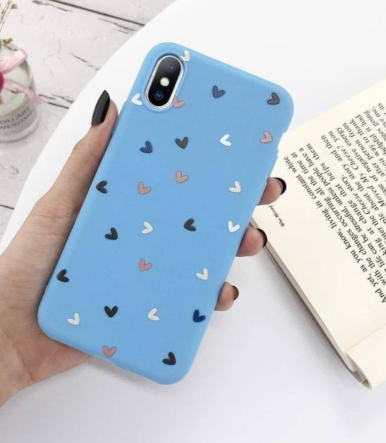 Candy Colored Hearts | Love | Flower Phone Case For iPhone 11 Pro Max X XS XR Xs Max 6 6s 7 8 Plus- Blue, Black, Greencases - Kalsord