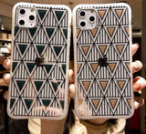 Triangular Glittering Geometric Pattern Phone Case/Cover For iPhone 7 8 Plus 11 Pro Max X XR Xs Maxcases - Kalsord
