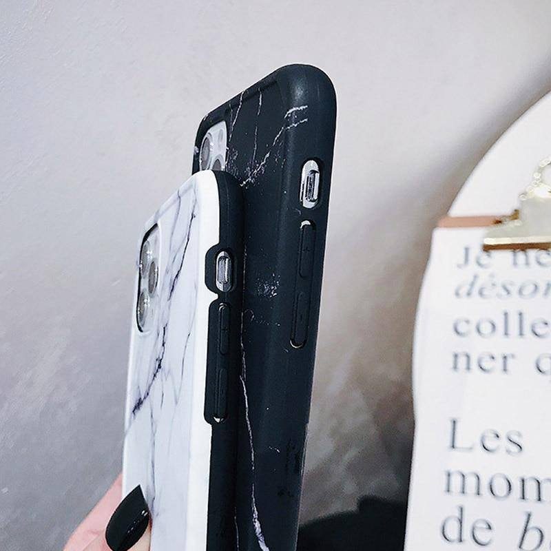 Shockproof Border Marble Pattern Phone Case/Cover For iPhone 11 Pro Max X XR Xs Max 7 8 Pluscases - Kalsord
