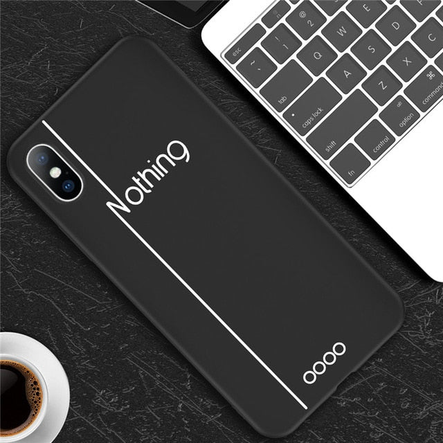 Feather | Simple Letter Phone Case For iPhone X 6 S 7 8 Plus 5 5s SE XS Max XRCases - Kalsord