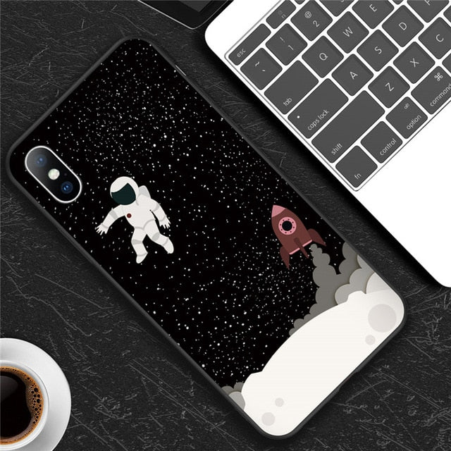 Moon | Stars Soft Silicon Phone Case for iPhone 7 8 6 6s Plus 5 5s SE XR XS Max XCases - Kalsord
