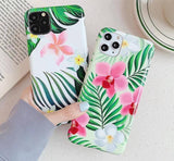 Soft Silicone Retro Flower Leaves Colorful Cover Phone Case For iPhone 11 Pro Max X XS XR Xs Max 6 6s 7 8 Pluscases - Kalsord