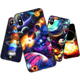 Starry Space Moon Star Planet Phone Case For iPhone 11 X XR Xs Max 11 Pro Back Cover For iPhone 6 6s 7 8 Plus SEcases - Kalsord
