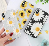 Sunflower Clear Phone Case/Cover For iPhone 6 6s 7 8 Plus XS Max XR X 5 SEcases - Kalsord